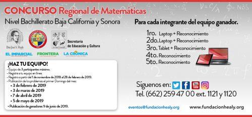 PUBLICACION DE PROBLEMAS CONCURSO DE MATEMATICAS @ SONORA Y BAJA CALIFORNIA